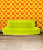 Lime Green Couch Royalty Free Stock Photography