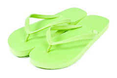 Lime Green Flip Flops Royalty Free Stock Photos