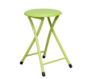 Lime green folding stool Stock Images