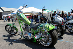 Lime Green Harley 2 Royalty Free Stock Photos