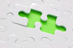 Lime Green Jigsaw Royalty Free Stock Photo