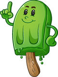 Lime Green Popsicle Cartoon Character Stock Photo