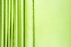 Lime green satin stripes pattern Stock Image