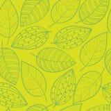 Lime green Scandinavian foliage leafs stock illustration