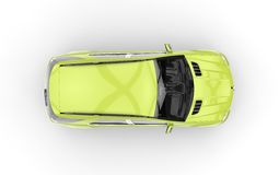 Lime Green SUV Top View Royalty Free Stock Photos