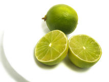 Lime Group On Plate Royalty Free Stock Images