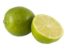 Lime half Stock Image