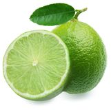 Lime with half. Royalty Free Stock Photo