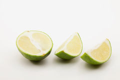 Lime Half And Quarters Stock Photography