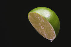 Lime Half Dripping Royalty Free Stock Photography
