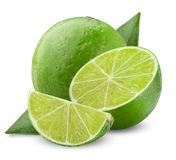 Lime with half Stock Image