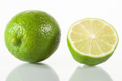 Lime and half of lime Royalty Free Stock Photo