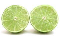 Lime halfs. Shot of 2 lime halfs Stock Photo