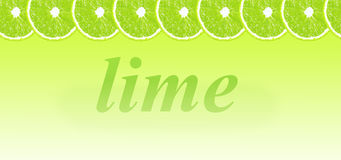 Lime halves background with space for text on a white Stock Photography