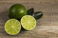 Lime halves Stock Photo