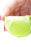 Lime in hand Royalty Free Stock Images