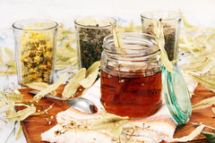 Lime and herbal tea. Royalty Free Stock Photos