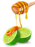 Lime and honey Royalty Free Stock Image