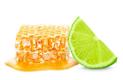 Lime and honey Royalty Free Stock Images