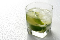 Lime and ice Stock Image