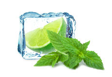 Lime ice and mint Royalty Free Stock Images