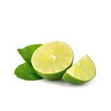 Lime isolate on white background (Lemon fruit) Stock Photos
