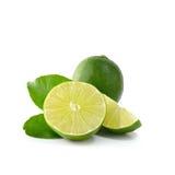 Lime isolate on white background (Lemon fruit) Stock Photo