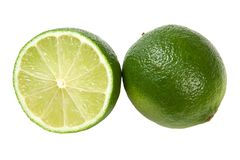 Lime Isolated. On White Background Stock Photo