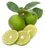 Lime isolated on white background. Cut Lime isolated on white background stock photography