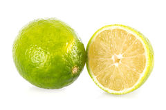 Lime. Isolated on a white background Stock Photography