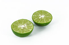 Lime isolated. On white background Stock Photos