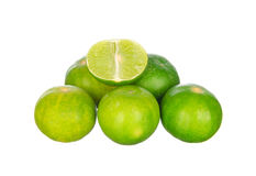 Lime isolated on white Stock Image