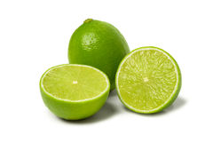 Lime isolated on white. Background close-up Royalty Free Stock Photos