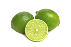 Lime isolated on white. Background close-up Stock Photo