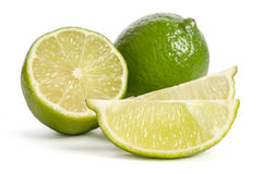 Lime with its juicy slices Royalty Free Stock Images