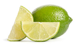 Lime with its juicy slices Stock Photos