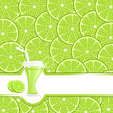 Lime juice background Royalty Free Stock Photo
