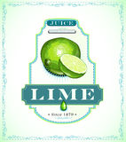 Lime juice label Stock Image
