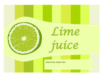 Lime juice label Royalty Free Stock Photos