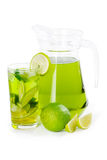 Lime juice with mint Royalty Free Stock Photos