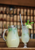 Lime juice with mint leaves Royalty Free Stock Photography