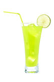 Lime juice with a slice Royalty Free Stock Photography