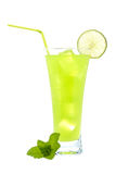 Lime juice with a slice Royalty Free Stock Image