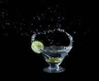Lime juice splash Stock Photos