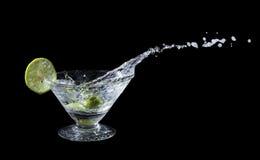 Lime juice splash Royalty Free Stock Image