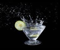 Lime juice splash Stock Image