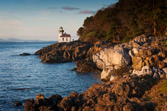 Lime Kiln Lighthouse. A beautiful little lighthouse on San Juan Island in the Pacific Northwest area of Washington State, USA Stock Image