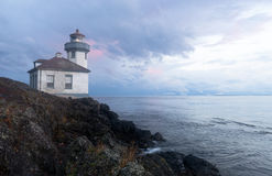 Lime Kiln Lighthouse Haro Strait Maritime Nautical Beacon Royalty Free Stock Photo