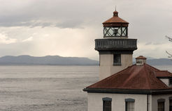 Lime Kiln Lighthouse Haro Strait Maritime Nautical Beacon royalty free stock photos