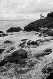 Lime Kiln Lighthouse Haro Strait Maritime Nautical Beacon Stock Photo
